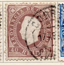 Cape Verde 1886 Early Issue Fine Used 40r. 153743
