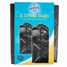 Travel Dress Bag Hanging Zip up 2 Garment Suit Cover Clothes Storage 57cm X133cm