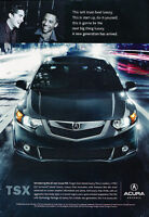 2009 Acura TSX - new generation -  Classic Advertisement Ad A58-B