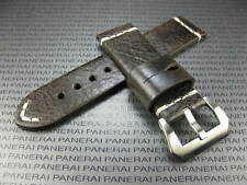 BIG BELT 24mm Hand Made LEATHER STRAP Gray Band with White Stitch Super Avenger