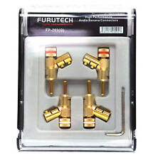 1 Box 4pc FURUTECH Japan FP-202(G) Banana Plug Connectors ( FP-202 )