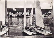 GENOVA SANTA MARGHERITA LIGURE 58 BARCHE A VELA Cartolina FOTOGRAFICA viagg 1951