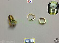 SMA female PLUG center nut bulkhead handle deck clip solder cup RF connector USA