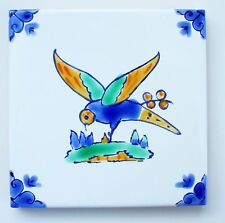 Mediterranean Spanish Ceramic Tiles - Swallow 4x4""