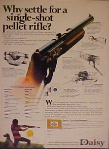 1972 Daisy Single Shot FIVE~SHOOTER BB Gun Air Rifle Toy Memorabilia Trade AD
