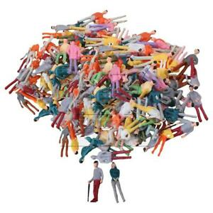 200PCS Colorful Model Figures Miniature People Passerby Scale 1:75