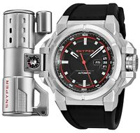 Snyper Men's Two Black Dial Black Rubber Strap Swiss Automatic Watch 20.000.00