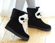 Women's Winter Snow Boots Flat Faux Suede Booties Warm Lined Shoes Outdoor Size
