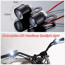 2 Pcs DC12V LED Motorcycles Handlebar Headlight Daytime Running Lights Spotlight