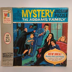 Milton Bradley 1965 The Addams Family Mystery Jigsaw Puzzle No. 4581 Complete