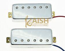 Chrome LP Guitar Mini Humbucker Neck Bridge Pickup Set  Pickups for Les Paul