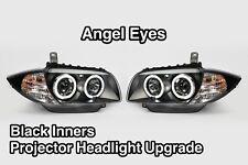 BMW 1 Series E87 E81 E82 E88 04-13 Black Angel Eye Headlights Headlamps Halo