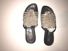 DONALD J PLINER CISSY Italian Leather Designer Wedge SANDALS  9.0 M $150
