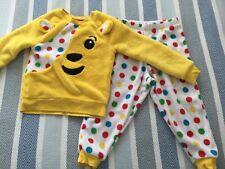pudsey bear pyjamas, 2-3 years, George