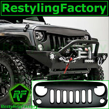 07-16 Jeep JK Wrangler Matte Black Angry Bird Replacement Grille Shell Rubicon