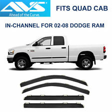 AVS Rain Guards In-Channel Vent Visor for 02-08 Dodge Ram Quad Cab - 194623