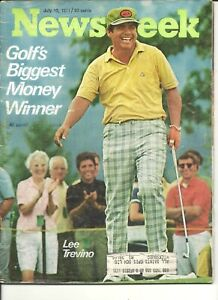 PGA Tour Golf Great Lee Trevino Newsweek Cover July 19 1971 Rare Tough to Find