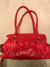 Coldwater Creek Red Leather Satchel