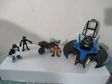 Batman Imaginext DC Super Friends lot Catwoman Robin Penguin Batjet