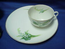 Vintage Rossetti Gold Trim Luncheon Plate & Cup Lily of the Valley Made in Japan
