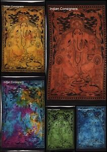 Indian Poster Wall Hanging Throw Table Cloth Ganesha Lord Small Tapestry Hippie
