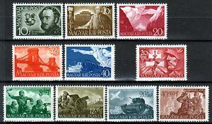 Hungary 1941 WWII ☀ Mi.660/64, Mi.682/85 & Mi.686. ☀ 10v MNH