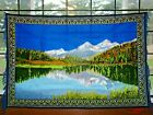 Tapestry Wall Hanging Scenery Mountains Water Reflection Throw Vintage New