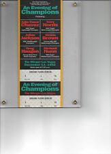 "Julio Ceasar Chavez vs.Terry Norris Boxing Ticket ""An Evening of Champions"""