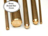 Brass Round Bar  Various Sizes 2 mm - 30 mm dia
