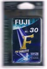 FUJI  EC-30 VHS CASSETTE VHS-C PAL SECAM (2 PEZZI) SIGILLATO!!!