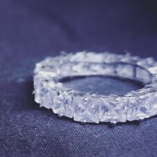 Cubic Zirconia Silver Diamonte Thick Baguette Square Ring