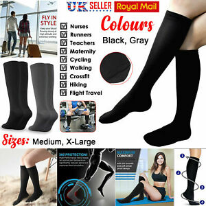 COMPRESSION SOCK FOOT SUPPORT ARCH HEEL PAIN RELIEF TRAVEL FLIGHT FATIGUE UNISEX