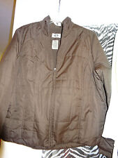 ATHLETIC WORKS Ladies Light Weight Jacket  Size Large 12-14 BROWN L@@K