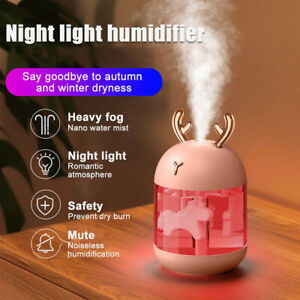 300ml USB Air Humidifier Aroma Oil Mist Diffuser Night Light For Car Home Office