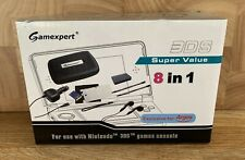NINTENDO 3DS Gamexpert 8 in 1 Accessories Pack Carry Case Stylus Earphones