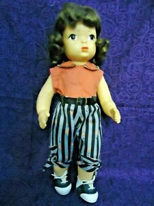 """Vintage 16"""" Terri Lee Doll Wearing Tagged 1950's Peddle-Pusher Play Outfit"""