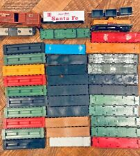 Mixed Lot of 32 Train HO Scale Flat Car Tops Only Plus Few Parts Trains