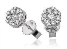 0.60ct F VS Diamond Daisy Earrings in 18ct White Gold