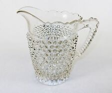 Antique Glass Water Pitcher, Hobnail Body, Thumbprint Base, Doyle & Co, #AA02