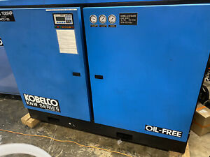 Rotary Screw Air Compressor, Kobelco KNW 1-A/H Oil Free 2-Stage, Freight