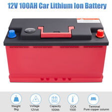 12V 100Ah Lithium Iron Phosphate Battery LiFePO4 Replace For Car RV CCA:2100A