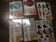 Transfer Sheets for Home Decor Windows Etc Garden Themed Lot Of 48 Sheets
