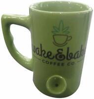 Wake and Bake Mug - Coffee Mug and Smoking Pipe