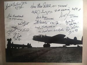 Lancaster Photo Signed16 Bomber Command Veterans