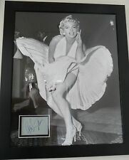 MARILYN MONROE Signed 22x18 Framed Photo Display THE SEVEN YEAR ITCH COA