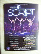 The Script, 2018  A5 UK tour concert poster / flyer