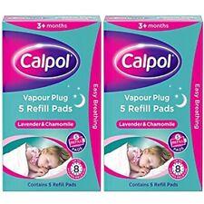2x Calpol Vapour Plug 5 Refill Pads - Lavender & Chamomile - Total of 10 Pads