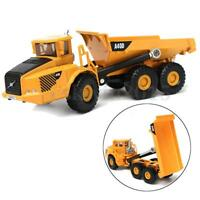 1:87 Scale Alloy Dump Truck Diecast Construction Vehicle Cars Lorry Toys