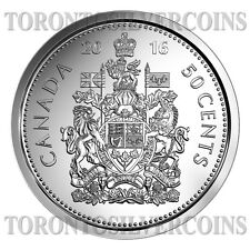 "2016 Canada / Canadian 50-cent "" Half Dollar"" Coin from Fresh Roll - In Stock"