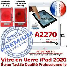 Vitre Tactile iPad A2270 Blanc Ecran Assemblé Nappe Bouton HOME Adhésif Prémonté